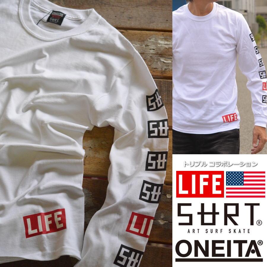 【半額!】SURT×ONEITA×LIFE ロンT メンズ 長袖 Tシャツ 922-513SRLF5【DAI】■03170905