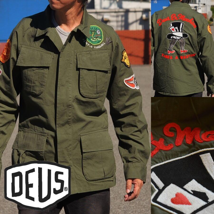 120%正規品 Deus ex Machina(デウス エクス マキナ)長袖 シャツジャケット メンズ DMP76336 ライトアウター