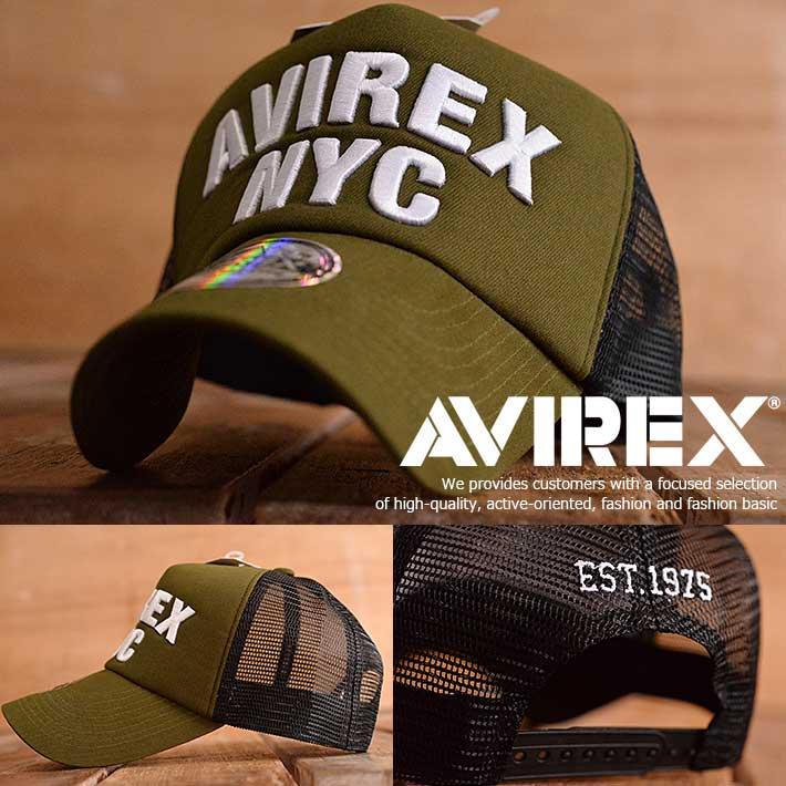 AVIREX アヴィレックス メッシュキャップ キャップ 帽子 メンズ アメカジ 14916500-35【GAL】■180228