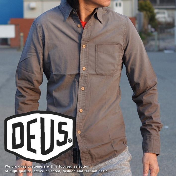 120%正規品 Deus ex Machina(デウス エクス マキナ)長袖 スラブ シャツ メンズ DMS75909 180420