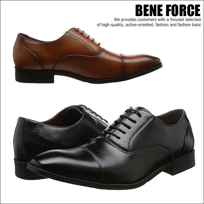 BENE FORCE ビジネスシューズ ストレートチップ シューズ メンズ 8112 【Y_KO】【SHA】■180401
