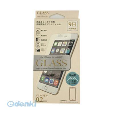 【個数:1個】「直送」【代引不可・同梱不可】[ES-I6GLS02CL]E SELECT iPhone6/6S用保護ガラスフィルム 厚み0.2ミリ 日本製ガラス